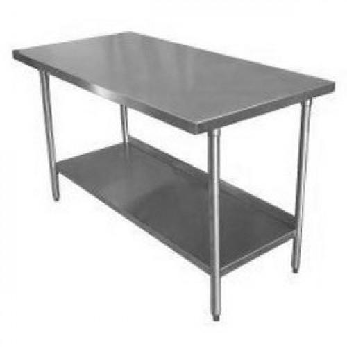 Mesa de trabajo de acero inoxidable 153cm 60 x 77cm 30 for Mesa de trabajo dimensiones